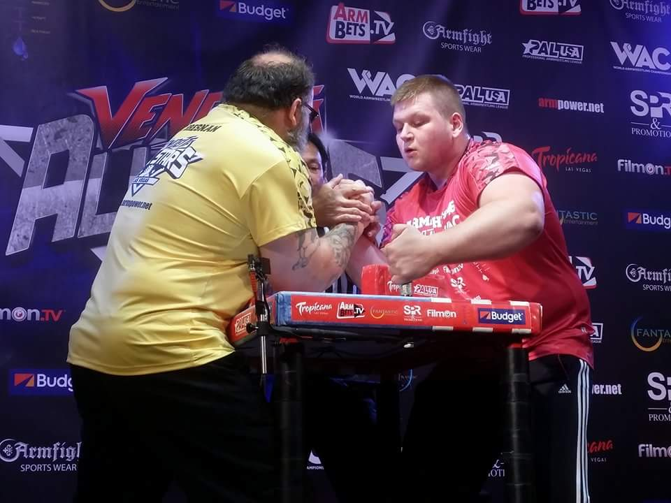 Tim Bresnan vs. Dmitry Silaev, ARMFIGHT 46 VENDETTA ALL STARS, LAS VEGAS │ Photo posted by Irina Way in Армрестлинг главная / Armwrestling / Армспорт