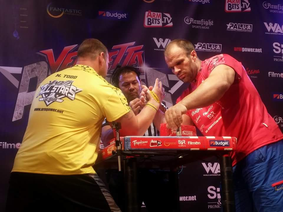 Michael Todd vs. Denis Cyplenkov, ARMFIGHT 46 VENDETTA ALL STARS, LAS VEGAS │ Photo posted by Irina Way in Армрестлинг главная / Armwrestling / Армспорт