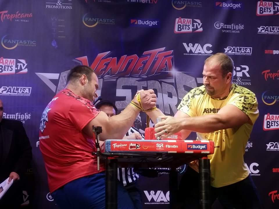 Denis Cyplenkov vs. Michael Todd, ARMFIGHT 46 VENDETTA ALL STARS, LAS VEGAS │ Photo posted by Irina Way in Армрестлинг главная / Armwrestling / Армспорт