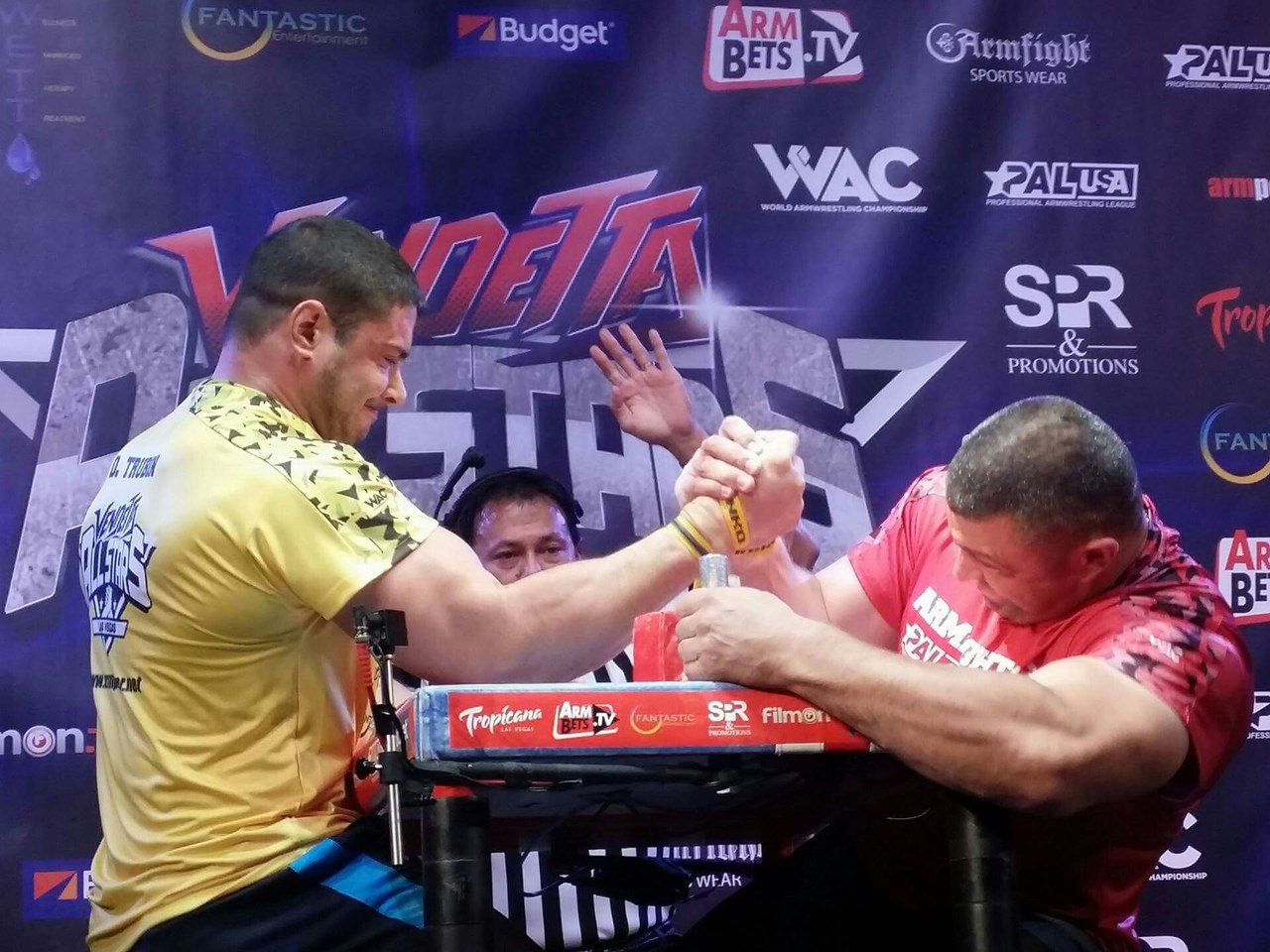Dmitry Trubin vs. Andrey Pushkar, ARMFIGHT 46 VENDETTA ALL STARS, LAS VEGAS │ Photo posted by Irina Way in Армрестлинг главная / Armwrestling / Армспорт