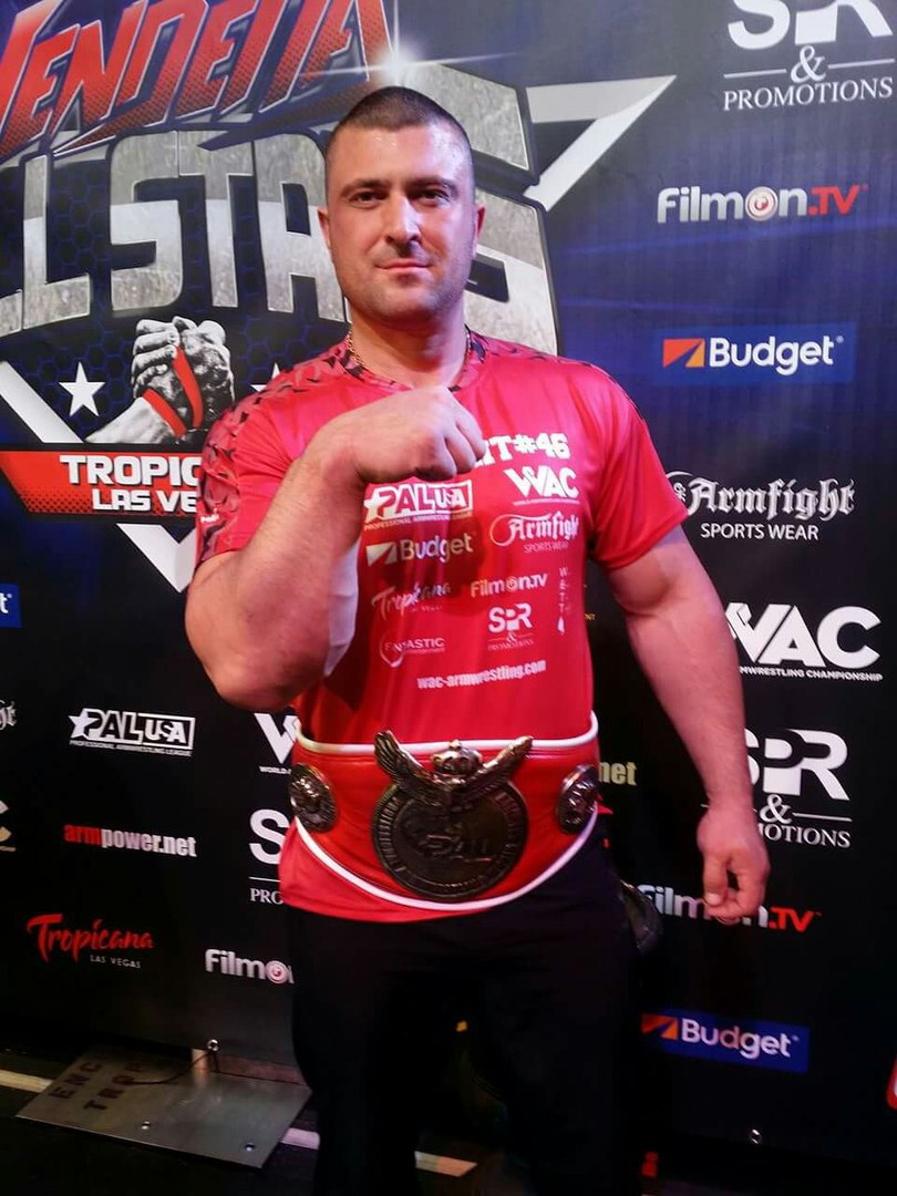Andrey Pushkar champion / winner of ARMFIGHT 46 VENDETTA ALL STARS, LAS VEGAS │ Photo posted by Irina Way in Армрестлинг главная / Armwrestling / Армспорт