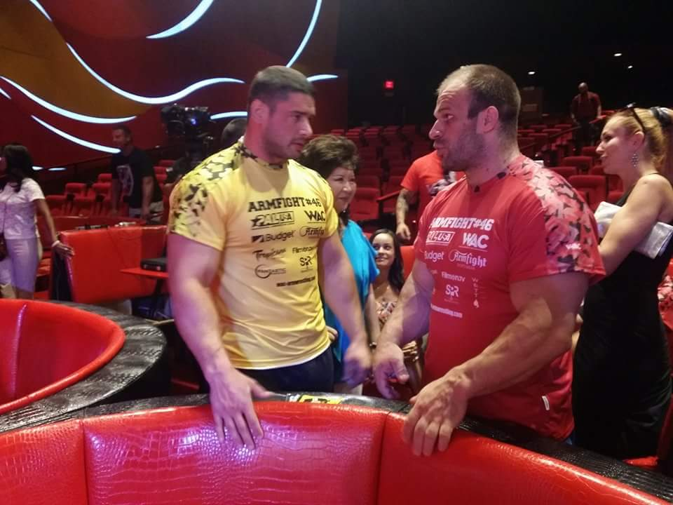 Dmitry Trubin and Denis Cyplenkov, ARMFIGHT 46 VENDETTA ALL STARS, LAS VEGAS │ Photo posted by Irina Way in Армрестлинг главная / Armwrestling / Армспорт