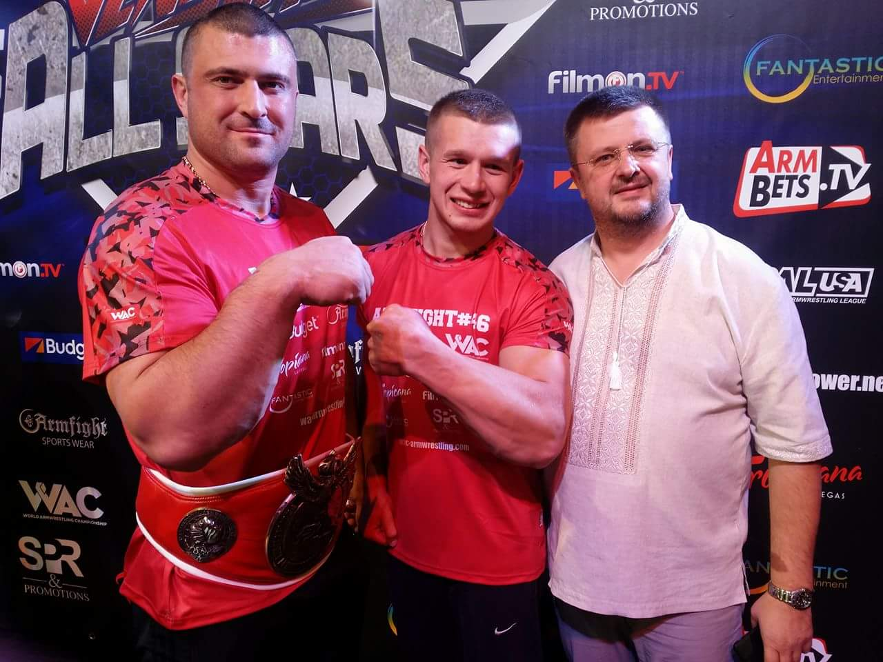 Andrey Pushkar and Oleg Zhokh, Dmitry Trubin and Denis Cyplenkov, ARMFIGHT 46 VENDETTA ALL STARS, LAS VEGAS │ Photo posted by Irina Way in Армрестлинг главная / Armwrestling / Армспорт