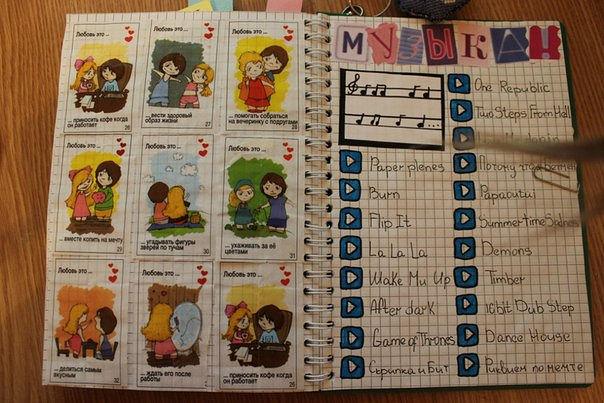 Для девочек своими руками личный дневник оформление 61