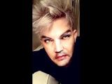 2016-06-03 Adam Lambert on Snapchat (4 snaps) - Flipped