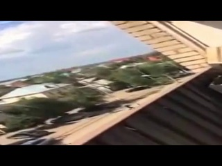 Появилось первое видео с места перестрелки в Актобе