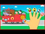 Finger Family. Peppa Pig Fire man - Семья пальчиков на русском Свинка Пеппа Пожарный!!!