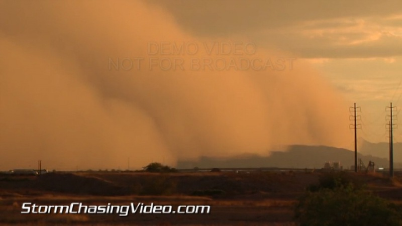 Огромная пыльная буря (хабуб) в городе Феникс, Аризона, 6 сентября 2014 г.