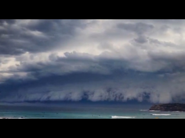 Облачное цунами в Австралии Massive Storm Clouds Sydney!! 06 11 2015