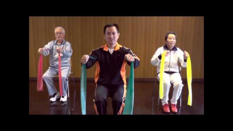 Exercícios com faixa elástica para idosos Elastic band exercises