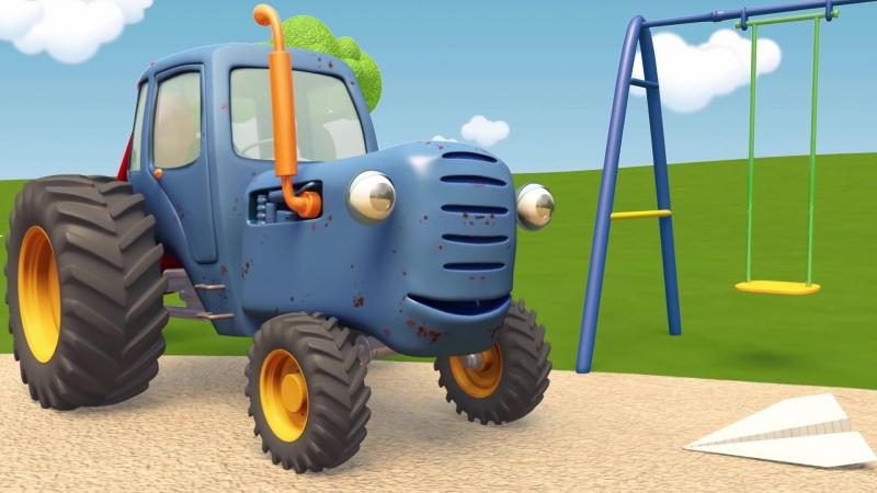 Синий Трактор Гоша - Лёгкое и тяжёлое или Застрявший мячик