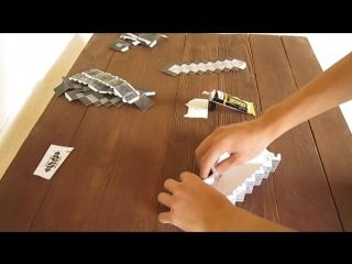 Как сделать бумажный меч из Minecraft (майнкрафт).