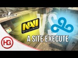 Na'Vi vs Cloud9 - Overpass, A Site Execute (CSGO Strategy Breakdown #16)