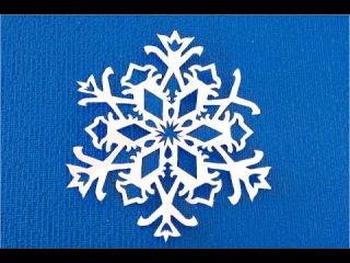 DIY. Как вырезать снежинку. Рисуем узор. Новогодние ПОДЕЛКИ