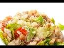 Пошаговый рецепт салата Цезарь с курицей