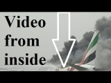 Watch Terrifying evacuation of Emirates plane crash-land in Dubai with 275 people on board
