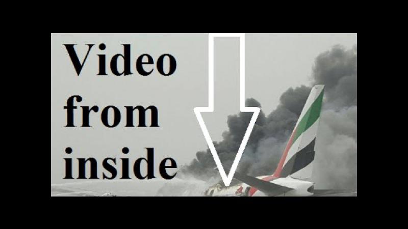 Watch Terrifying evacuation of Emirates plane crash-land in Dubai with 275 people on board