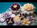 Ribbon flowers:kanzashi from narrow ribbons/Цветы из лент: канзаши из узких лент.МК