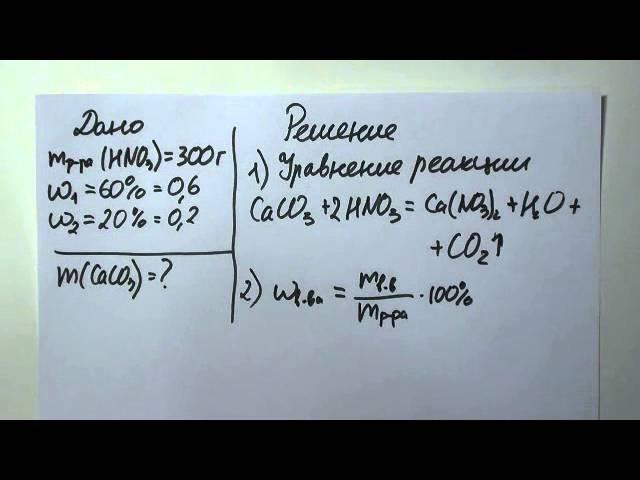 ЕГЭ по химии 2016. Разбор вопроса 39 - нахождение массовой доли.