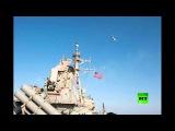 لقطات أخرى لتحليق مقاتلتي سو-24 روسيتين فوق مدمرة أمريكية