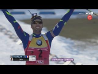 Мартен Фуркад выигрывает гонку преследования, Симон Шемпп - 2-й, Антон Шипулин - 3-й - Хохфильцен 2015