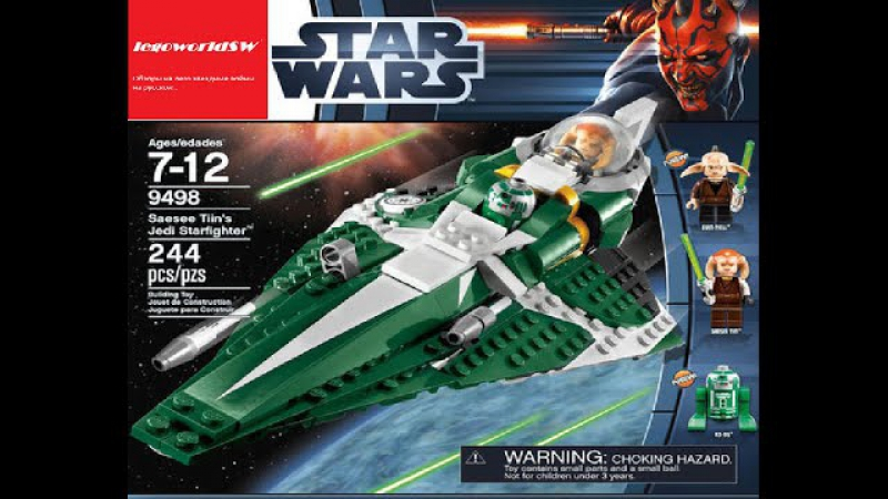 Обзор на лего звёздные войны Saesee Tiin's Jedi Starfighter 9498