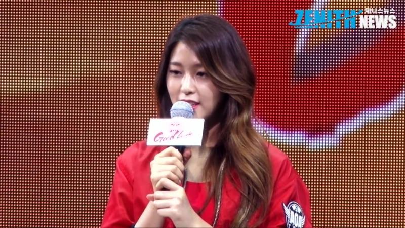 [Z현장영상] AOA 설현, 참았던 눈물을 흘린 설현, 열심히 하겠다 Showcase