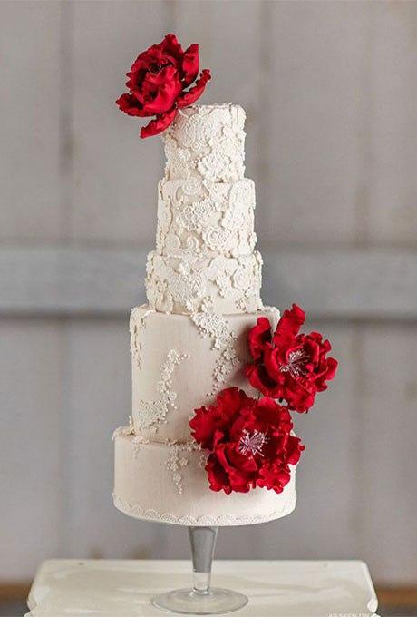zFNrSE0I7H4 - 18 Кружевных свадебных тортов