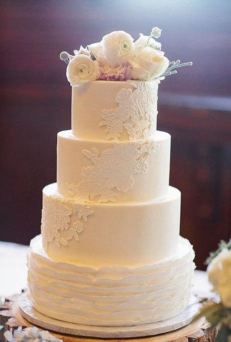 Xib1H6A3pwA - 18 Кружевных свадебных тортов