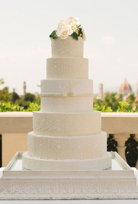 ln50sdffiIc - 18 Кружевных свадебных тортов