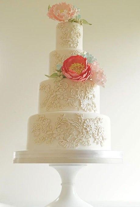 qPpuHQWfEXk - 18 Кружевных свадебных тортов