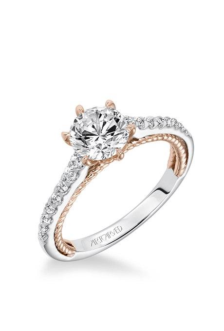 PLC 8oNpBYM - Обручальные кольца из розового золота (27 фото)
