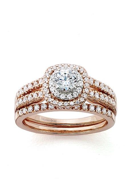 W YcM 53Atk - Обручальные кольца из розового золота (27 фото)