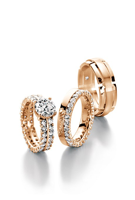 Cu9fglIN4gw - Обручальные кольца из розового золота (27 фото)