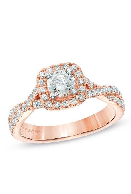 rivxMf27fSQ - Обручальные кольца из розового золота (27 фото)