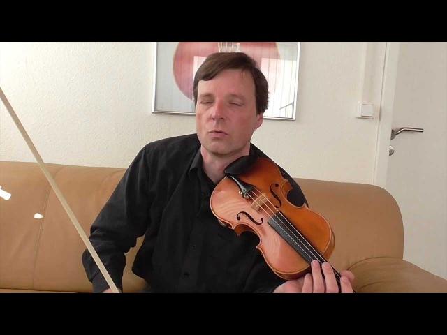 Violine/Geige lernen - Geigenspiel verbessern Teil 9: Klangfarben erzeugen