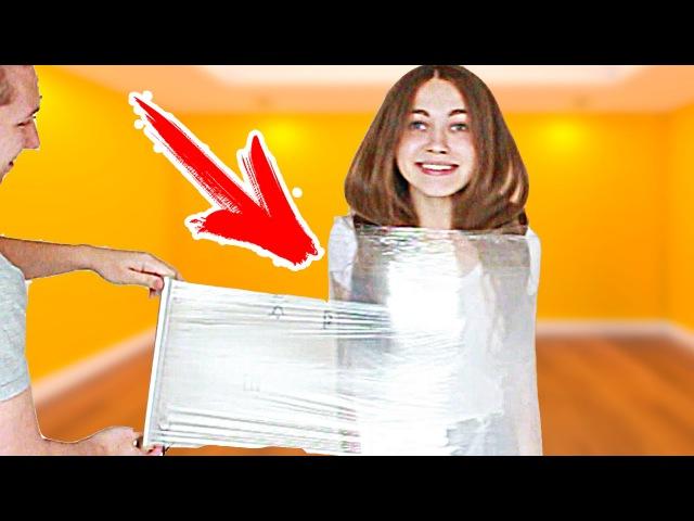 100 МЕТРОВ ПИЩЕВОЙ ПЛЕНКИ! ЧЕЛЛЕНДЖ! 100 layers plastic wrap CHALLENGE