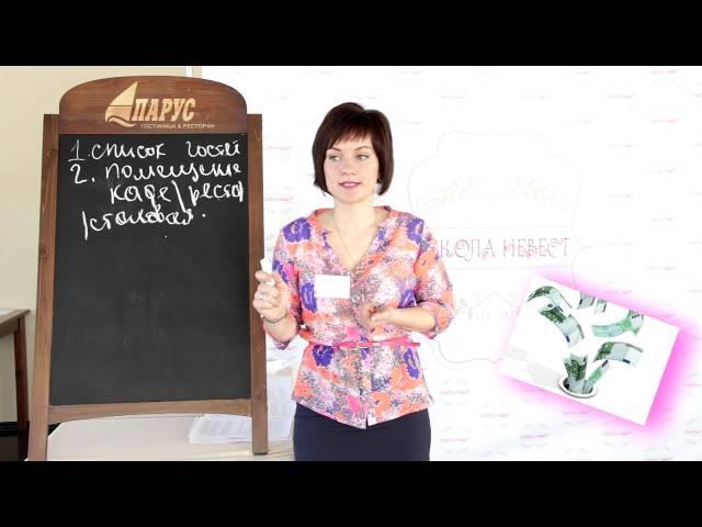 Школа Невест - 1 урок (Бюджет свадьбы) ведущая Регина Ерохина