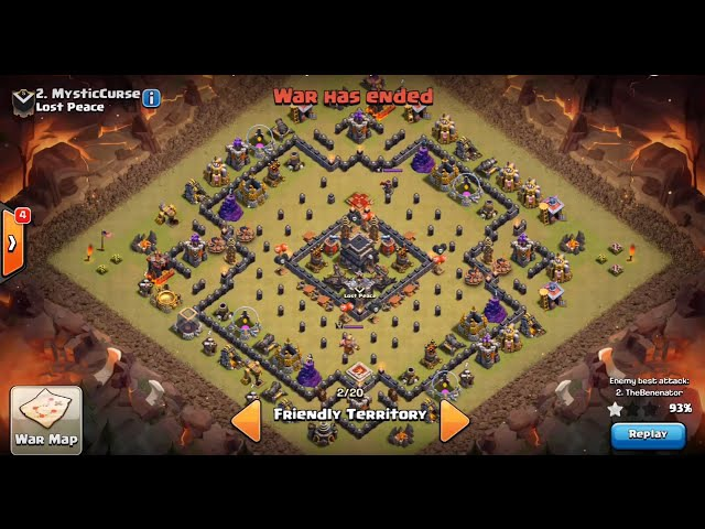 Clash of Clans | TH9 ANTI 2-STAR WAR BASE (The Bullseye Base)