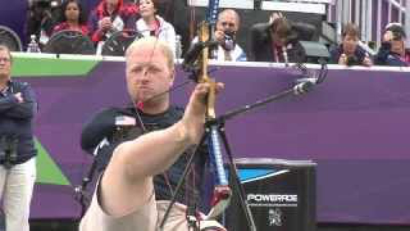Archery - Stutzman (USA) v Denton (USA) - Men's Ind. Compound Open - London 2012 Paralympics