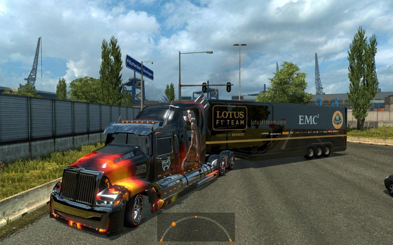 Wester Star 5700 Optimus Prime для Euro Truck Simulator 2 - Скриншот 1