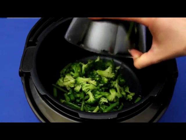 Рецепт приготовления булгура со стручковой фасолью и брокколи в мультиварке VITEK...