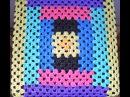 Вязание из полиэтиленовых пакетов Чехлы на табуретки Основа бабушкин квадрат Схема Ч 1