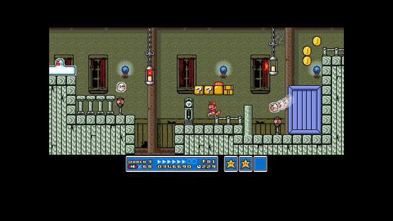 Super Mario Maker - Mario 3 Ghost House Theme - 16-Bit Remix