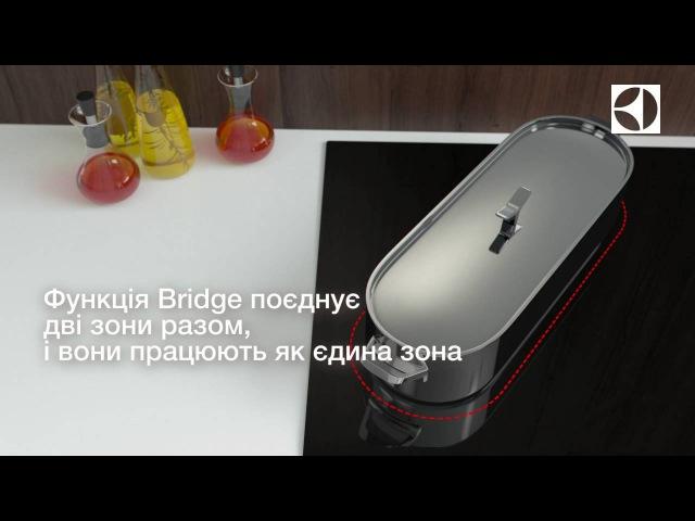 Функція Bridge в варильних поверхнях Electrolux