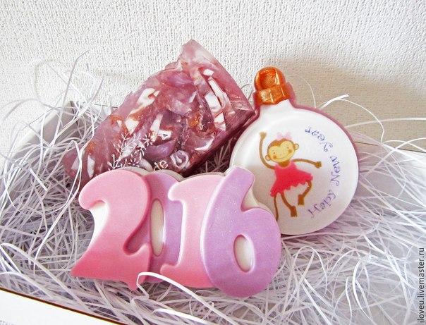 Подарок на новый год мыло