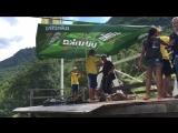 полет на тросе через каньон в Черногории ))