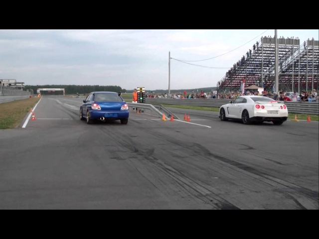 Subaru Impreza WRX STI Garrett GTX42(win) vs Nissan GT-R EcuTek Stage 2