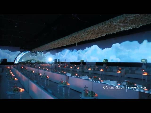Video Mapping in Royal Saudi Wedding in Armani Hotel by Olivier Dolz Wedding Planner Dubai PART 2