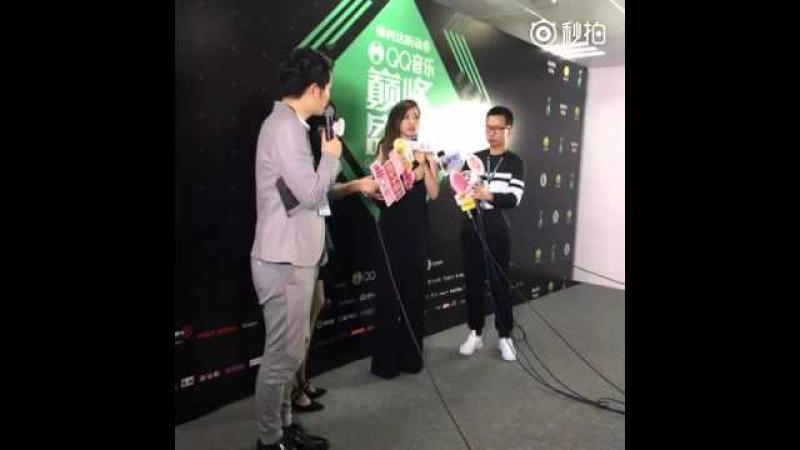 QQ音樂巔峰盛典 張靚穎 後台採訪